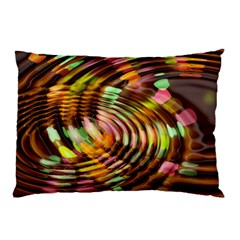 Wave Rings Circle Abstract Pillow Case (two Sides)