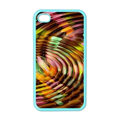 Wave Rings Circle Abstract Apple Iphone 4 Case (color)