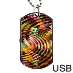 Wave Rings Circle Abstract Dog Tag Usb Flash (two Sides) by Nexatart