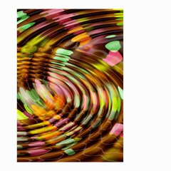 Wave Rings Circle Abstract Small Garden Flag (two Sides) by Nexatart