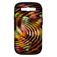 Wave Rings Circle Abstract Samsung Galaxy S Iii Hardshell Case (pc+silicone) by Nexatart