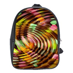 Wave Rings Circle Abstract School Bags (xl)  by Nexatart