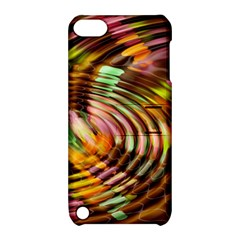 Wave Rings Circle Abstract Apple Ipod Touch 5 Hardshell Case With Stand by Nexatart