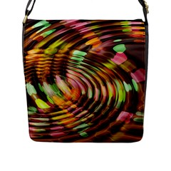 Wave Rings Circle Abstract Flap Messenger Bag (l)