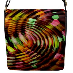 Wave Rings Circle Abstract Flap Messenger Bag (s) by Nexatart