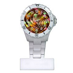 Wave Rings Circle Abstract Plastic Nurses Watch