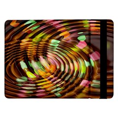 Wave Rings Circle Abstract Samsung Galaxy Tab Pro 12 2  Flip Case