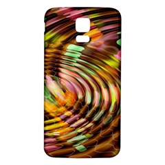 Wave Rings Circle Abstract Samsung Galaxy S5 Back Case (white)