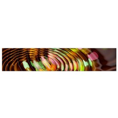 Wave Rings Circle Abstract Flano Scarf (small) by Nexatart