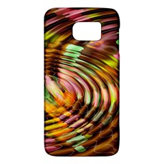 Wave Rings Circle Abstract Galaxy S6 by Nexatart