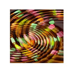 Wave Rings Circle Abstract Small Satin Scarf (square) by Nexatart
