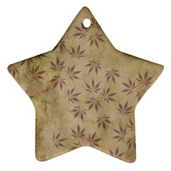 Parchment Paper Old Leaves Leaf Ornament (star)