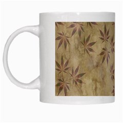 Parchment Paper Old Leaves Leaf White Mugs