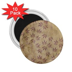 Parchment Paper Old Leaves Leaf 2 25  Magnets (10 Pack)  by Nexatart