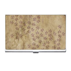 Parchment Paper Old Leaves Leaf Business Card Holders by Nexatart