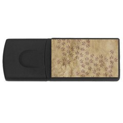 Parchment Paper Old Leaves Leaf Usb Flash Drive Rectangular (4 Gb) by Nexatart