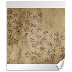 Parchment Paper Old Leaves Leaf Canvas 8  X 10  by Nexatart