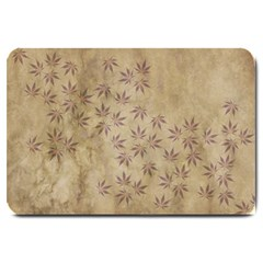 Parchment Paper Old Leaves Leaf Large Doormat  by Nexatart