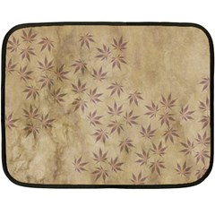 Parchment Paper Old Leaves Leaf Fleece Blanket (mini) by Nexatart