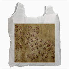 Parchment Paper Old Leaves Leaf Recycle Bag (two Side)