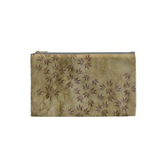 Parchment Paper Old Leaves Leaf Cosmetic Bag (small)  by Nexatart