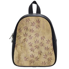Parchment Paper Old Leaves Leaf School Bags (small)