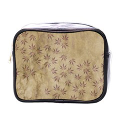 Parchment Paper Old Leaves Leaf Mini Toiletries Bags by Nexatart
