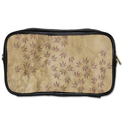 Parchment Paper Old Leaves Leaf Toiletries Bags by Nexatart