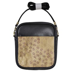 Parchment Paper Old Leaves Leaf Girls Sling Bags by Nexatart