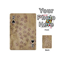 Parchment Paper Old Leaves Leaf Playing Cards 54 (mini)  by Nexatart