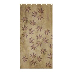 Parchment Paper Old Leaves Leaf Shower Curtain 36  X 72  (stall)  by Nexatart
