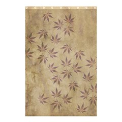 Parchment Paper Old Leaves Leaf Shower Curtain 48  X 72  (small)