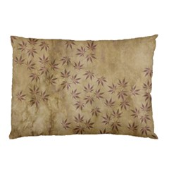 Parchment Paper Old Leaves Leaf Pillow Case (two Sides)