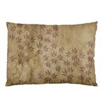 Parchment Paper Old Leaves Leaf Pillow Case (Two Sides) Back