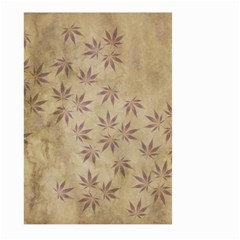 Parchment Paper Old Leaves Leaf Large Garden Flag (two Sides) by Nexatart