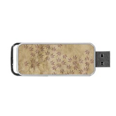 Parchment Paper Old Leaves Leaf Portable Usb Flash (one Side) by Nexatart