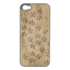 Parchment Paper Old Leaves Leaf Apple Iphone 5 Case (silver) by Nexatart