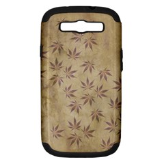 Parchment Paper Old Leaves Leaf Samsung Galaxy S Iii Hardshell Case (pc+silicone) by Nexatart