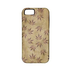 Parchment Paper Old Leaves Leaf Apple Iphone 5 Classic Hardshell Case (pc+silicone)