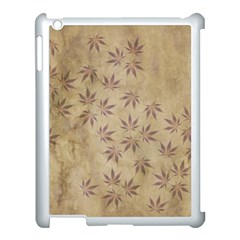 Parchment Paper Old Leaves Leaf Apple Ipad 3/4 Case (white) by Nexatart