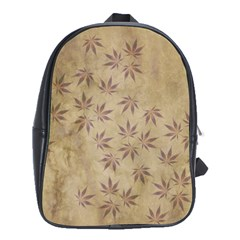 Parchment Paper Old Leaves Leaf School Bags (xl)  by Nexatart