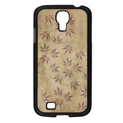 Parchment Paper Old Leaves Leaf Samsung Galaxy S4 I9500/ I9505 Case (black) by Nexatart