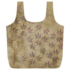 Parchment Paper Old Leaves Leaf Full Print Recycle Bags (l)