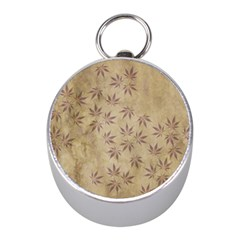 Parchment Paper Old Leaves Leaf Mini Silver Compasses by Nexatart