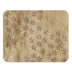 Parchment Paper Old Leaves Leaf Double Sided Flano Blanket (large)