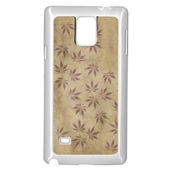 Parchment Paper Old Leaves Leaf Samsung Galaxy Note 4 Case (white)
