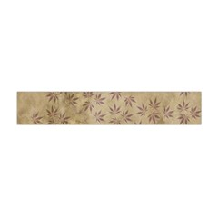 Parchment Paper Old Leaves Leaf Flano Scarf (mini) by Nexatart