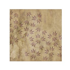 Parchment Paper Old Leaves Leaf Small Satin Scarf (square)