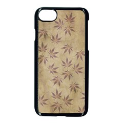 Parchment Paper Old Leaves Leaf Apple Iphone 7 Seamless Case (black) by Nexatart