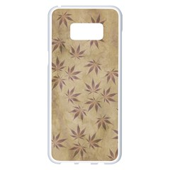 Parchment Paper Old Leaves Leaf Samsung Galaxy S8 Plus White Seamless Case by Nexatart